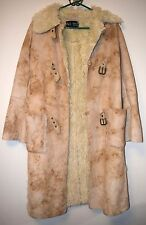 EUC Armani Jeans Women's Beige Winter Coat Faux Fur Lined US Size 4
