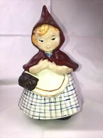 """VINTAGE LITTLE RED RIDING HOOD COOKIE JAR ~ HULL POTTERY CO?  12"""""""