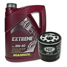 5 Liter Mannol SAE 5W-40 Extreme Motoröl + Ölfilter SM 121  von SCT Germany