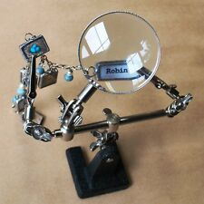 3rd Hand Holds Small pieces for Soldering Help with Magnifier Helping Hands Tool