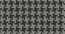 15.125 yds Houndstooth Upholstery Fabric Gray Polyester 99411 BA