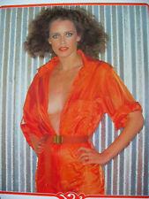 1983 Sylvia Kristel Japan VINTAGR calendar POSTER VERY RARE