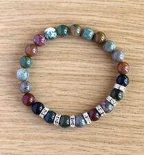Bracelet with natural 8 mm  Indian Agate gemstones
