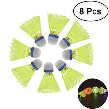 8 Pcs Badminton Shuttlecocks Light-up Feather Badminton Ball LED