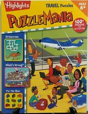 Highlights Puzzle Mania Travel Puzzles Crisscross What's Wrong FREE SHIPPING sb