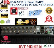 Dvr 16 canali ibrido ahd  ip  analogico Full hd 1080p - Supporta Wifi e 3G 1 TB