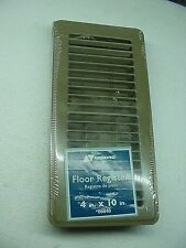"X5 Accord 4""x10"" Floor Register Vent ~ Brown ~ Adjustable Damper New  Sealed Lot"
