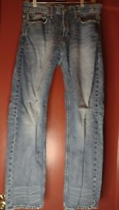 """American Eagle Outfitters Mens 30"""" x 32"""" Slim Straight Blue Jeans"""