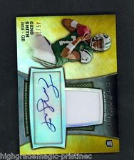 2013 Bowman Sterling Geno Smith Auto Jersey Relic Gold 45/75