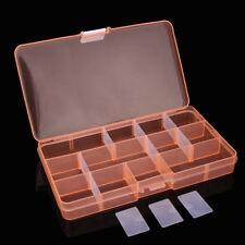 Plastic 15 Slots Adjustable Jewelry Storage Box Case Craft Organizer Bead A