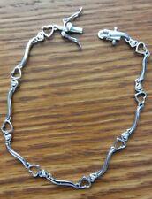 LADIES HEART BRACELET 925 STERLING SILVER 8/0.16ctw CUBIC ZIRCONIA NWT  7.25 IN