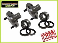 2 Front Hub & Wheel Bearings + Seals for Sentra 91-99 200SX Non ABS Pair 8PCS