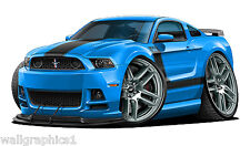 2013 Ford Mustang Boss 302 444 HP 6 SP Wall Graphic Vinyl Decal Man Cave Garage
