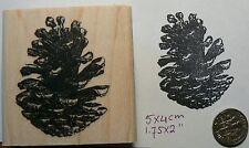 Pine-cone rubber stamp P49C