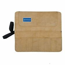 Ciseau & Tool Roll 8 Pocket Split en cuir et daim Sac Carrier Toolbag
