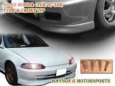 TR-Style Front Lip (Urethane) Fits 92-95 Civic 2dr
