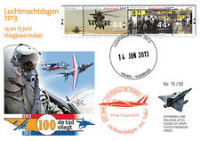 """PAF13-8T2 FDC NETHERLAND """"60 years French Patrol / ALPHAJET & MIRAGE 2000"""" 2013"""