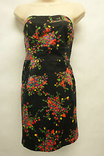 """*NWT Stunning Free People """"Black Comb w/ Flowers"""" Strapless Top/Blouse sz 12 Wow"""