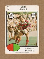 1975 NRL RUGBY LEAGUE TRADING CARD #95 ERIC SIMMS SOUTH SYDNEY SOUTHS RABBITOHS