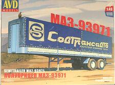 1:43 MAZ 93971 Sovtransavto semitrailer Bausatz KIT SSM USSR UdSSR russian DDR