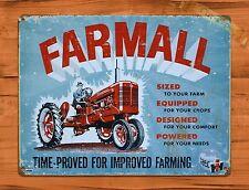 """Tin Sign """"Farmall"""" Tractors Farm Equipment Rustic Wall Decor"""