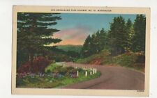 Snoqualmie Pass Highway No.10 Washington USA 1941 Postcard 170b