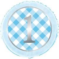First 1st Compleanno Blu 45.7cm Lamina Palloncino Decorazione