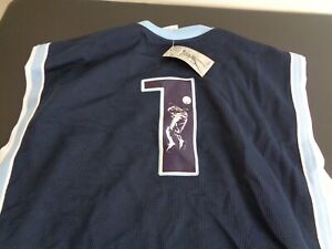 AND1 One AND 1 Basketball VINTAGE Jersey Sewn LARGE Blue NEW Free Shipping