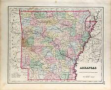 Antique Arkansas State Map (1857)
