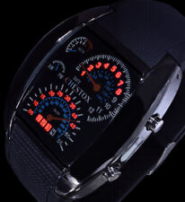 Chestox Digital Herren Armband Uhr Rote Led Schwarz Tacho Optik Licht