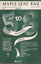 MAPLE LEAF RAG orchestra arrangement SCOTT JOPLIN ragtime classic 3 PARTS (1945)