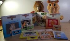 Teddy Ruxpin and Grubby w/ 6 Tapes and Matching Books And Cord