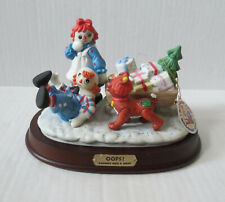 "Raggedy Ann And Andy ""Oops"" Flambro Sledding Figurine (H-D)"
