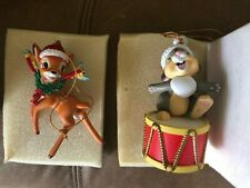 Disney Grolier Bambi and Thumper (2) Christmas Ornaments - # 26231-120 / 146