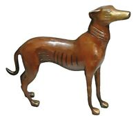 Brown Dog Figurine Handmade Brass Figure Statue Sculpture Table Home Decor Gift