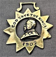 Scarce Royalty horse brass - Edward VII God Save the King 1902 in sun frame
