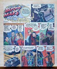 Beyond Mars by Jack Williamson - scarce full tab Sunday comic page Dec. 27, 1953