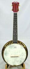 Rally maple Concert Ukulele banjo,Antique Brass surface,hardcase,DUB-1F series