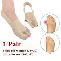 1Pair Big Toe Corrector socks Bunion Splint Straightener Foot Pain Relief ti