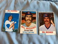 3 Bill Buckner Hostess baseball cards