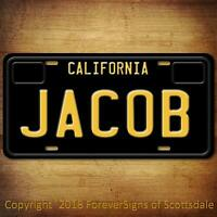 Jacob California Name License Plate Aluminum Vanity Tag