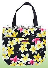 Medium size reversible Hawaiian print Tote Bag - 302Black