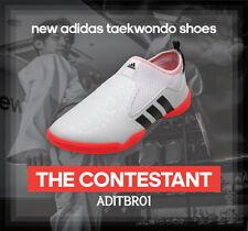Adidas The Contestant Taekwondo Shoes White / Orange ADITBR01 TKD Combat Sports
