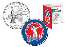 NEW YORK GIANTS * Retro Logo * NY Quarter Colorized Coin Football NFL LICENSED