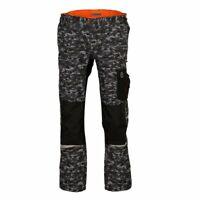 TERRAX WORKWEAR Herren Arbeitshose Bundhose, Camouflage/Grau