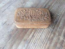 Petite boite pilule/tabac à priser bouquet de fleur veers 1900