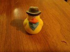"Rubber Ducky Toy cowboy hat and kerchief 2"" tall"
