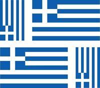 4 x Aufkleber Auto Sticker motorrad Autoaufkleber Fahne Flagge Griechenland