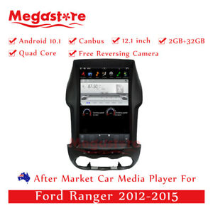 """12.1"""" Android 10.1 Car GPS For Ford Ranger 2012-2015 manual auto tesla style usb"""