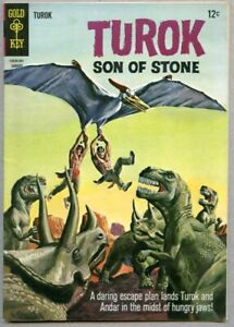 Turok Son Of Stone #49-1966 fn 6.0 Gold Key Alberto Giolitti